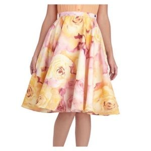 ModCloth Vintage Floral Circle Skirt Size 4X